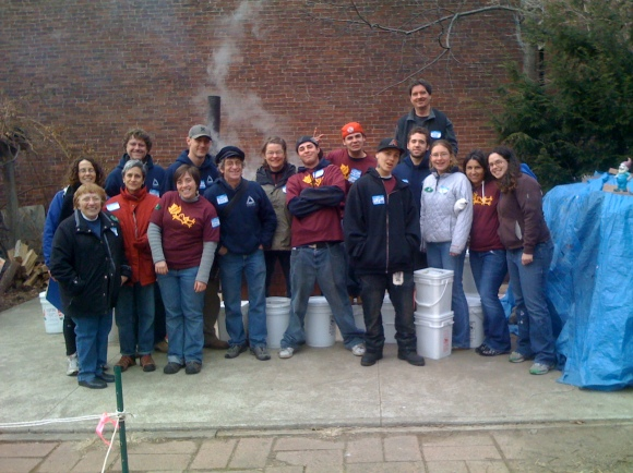Volunteers at the 2010 Maple Boil Down
