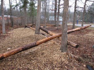 Teeter-totter and balance beams for older students