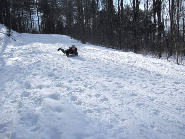 Mount Philo Sledding: The Ride Down