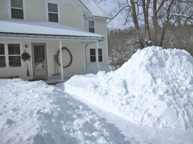 snow-piles