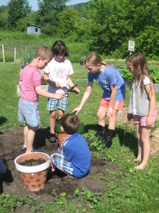 I had a good time at garden camp.  I got to learn how to plant things.  I learned a new way to water.  I also got to make awesome garden crafts.  I made new friends, which was fun.  It was great! Maddie, age 10