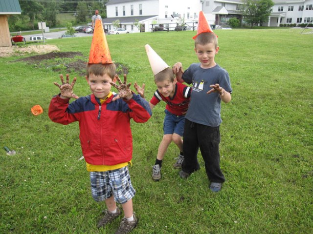 I liked Garden Camp.  I invented mud balls.  We planted flowers and we had water play. Even though I go here for school I recognized some new things in the garden.  There are trellises to block off the bunnies. We built them! Henry, age 6