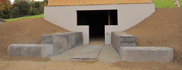 And the retaining wall is complete!