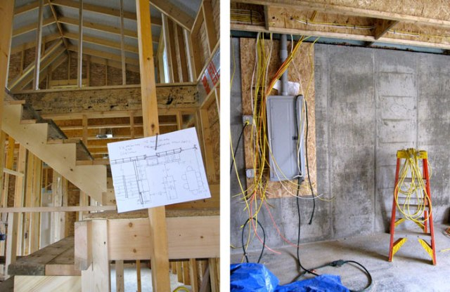 Staircases, floor plans, and wiring...lots of wiring