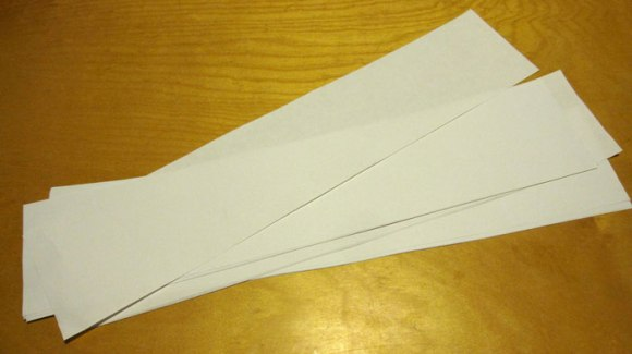 Cut paper strips ahead of time so everyone can get started right away.