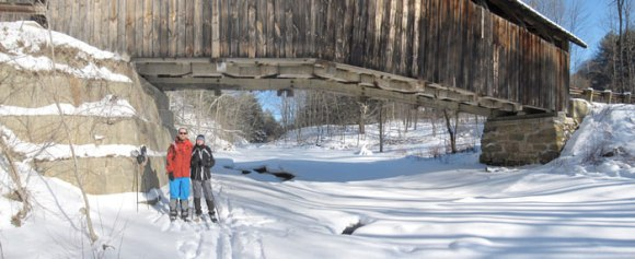 A ski up the river to the upper covered bridge.