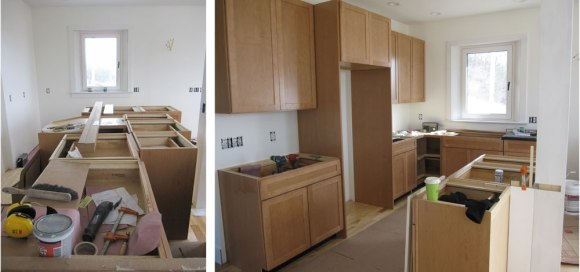Kitchen cabinet progress!