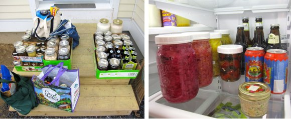 Our pantry is well stocked.  And our fridge is equipped with both of our favorite fermented foods.