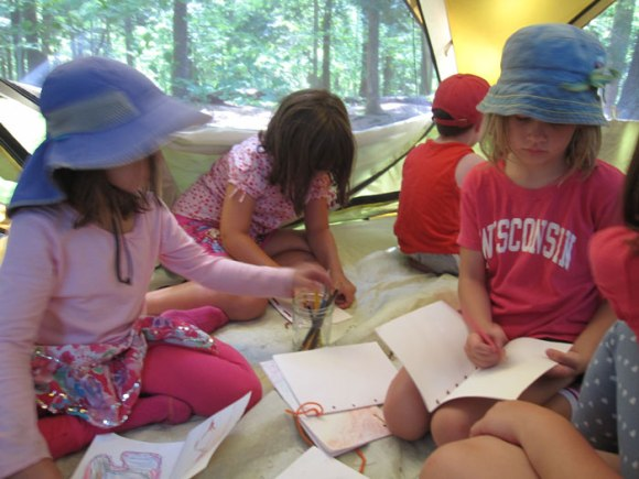 Forest Tent Nature Journaling