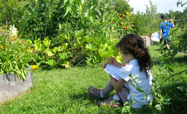 Journaling in the garden